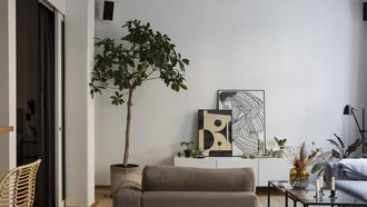 scandinavisch interieur urban jungle met kamerplanten
